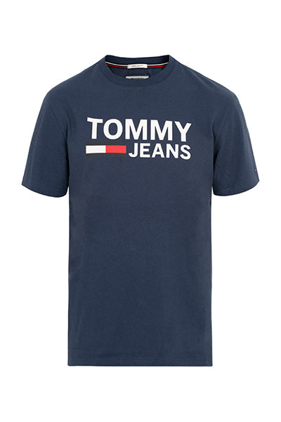 tommy hilfiger – Tommy jeans logo tee iris - l fra luxivo.dk
