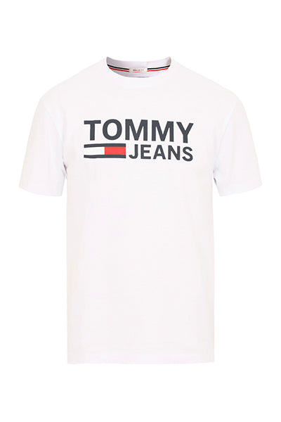 tommy hilfiger – Tommy jeans logo tee white - xxl på luxivo.dk