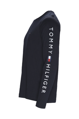Tommy Hilfiger L/S Logo Sleeve Tee Navy