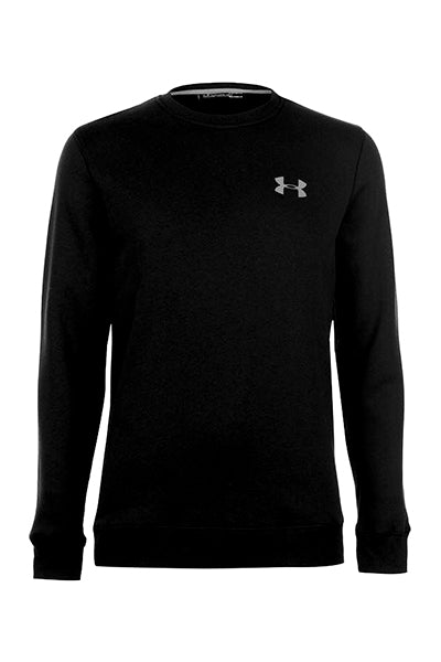 under armour – Under armour fitted crew sweater black - xl på luxivo.dk
