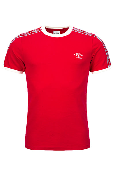 Image of   Umbro Taped Ringer Tee Red - L