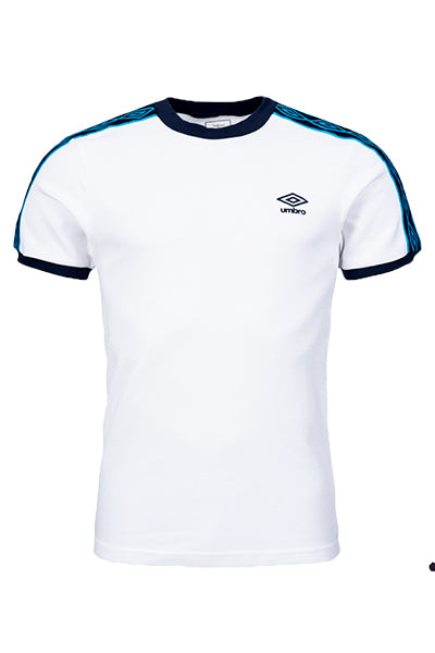 Umbro Taped Ringer Tee White