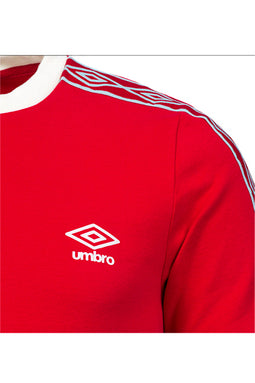 Umbro Taped Ringer Tee Red
