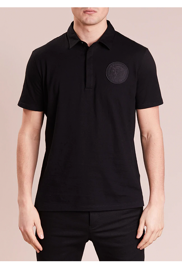 Versace Medusa S/S Polo Shirt Blackout