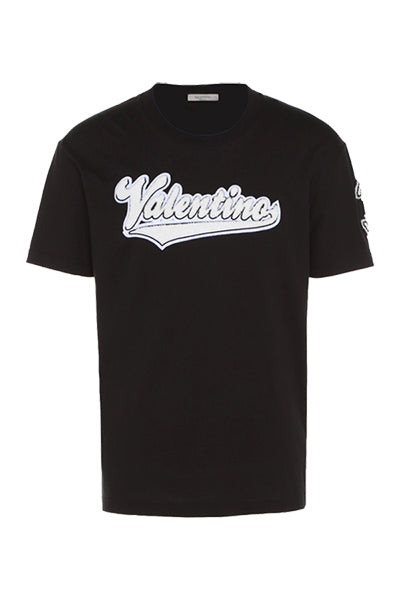 Image of   Valentino Logo T-shirt Black - L