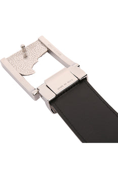 Versace Medusa Leather Belt Testa Di Moro