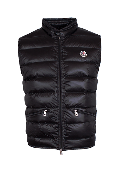 Image of   Moncler Gui Quilted Goose Down Vest Black - L