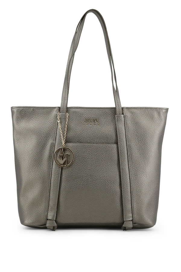Armani Women Shopping Handbag Platino