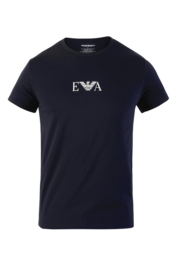 Armani s/s logo tee navy - m fra armani fra luxivo.dk