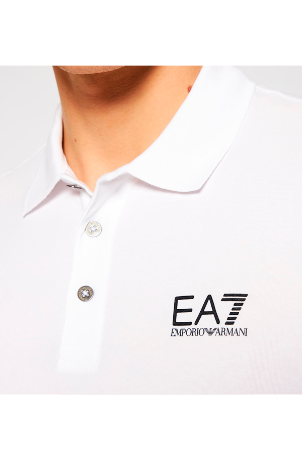 Armani EA7 Core ID Polo Shirt White