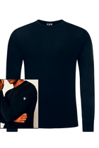 Armani EA7 Knitted Shield Logo Jumper Navy