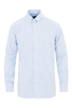 ETON Slim Fit Oxford Shirt Blue Stripe