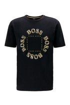 Hugo Boss Layered Metallic Tee Black