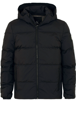 Calvin Klein Down Hooded Jacket Black