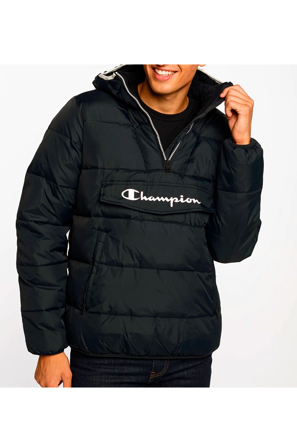 Champion Legacy 1/2 Zip Jacket Black