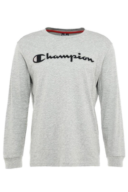 Champion Logo L/S Tee Grey
