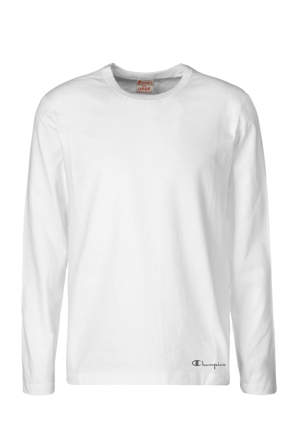 champion – Champion longsleeve tee white - xl på luxivo.dk