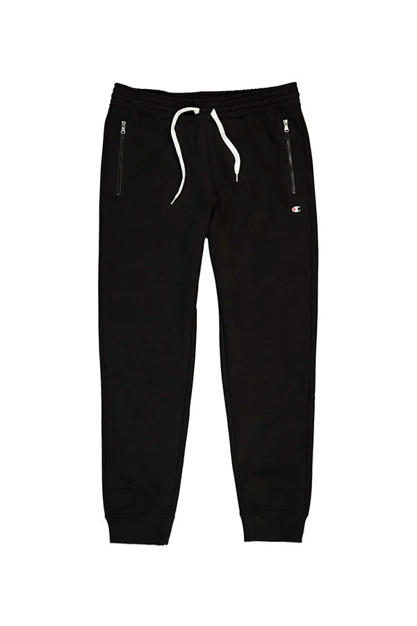 Champion Rib Cuff Zip Pants Black