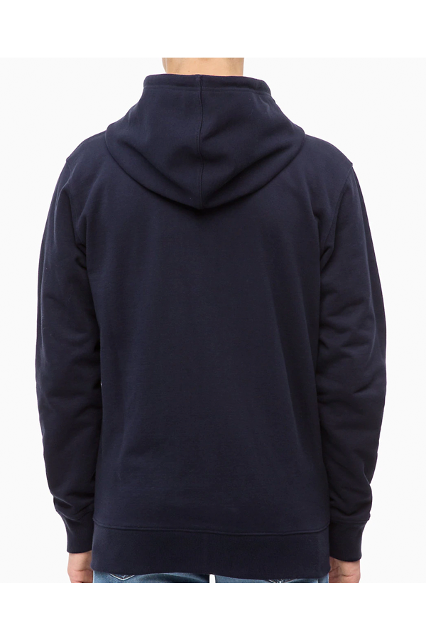 Calvin Klein Monogram Chest Logo Zip Hoodie Night Sky