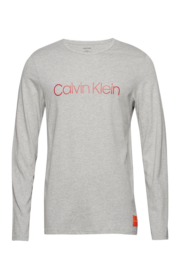 Calvin Klein L/S Crew Neck Tee Grey Heather