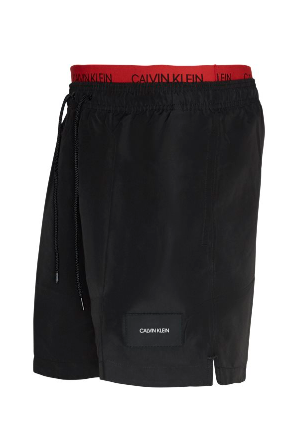 Calvin Klein Double Waistband Swimshorts New Black