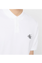 Calvin Klein New Monogram Logo Polo White