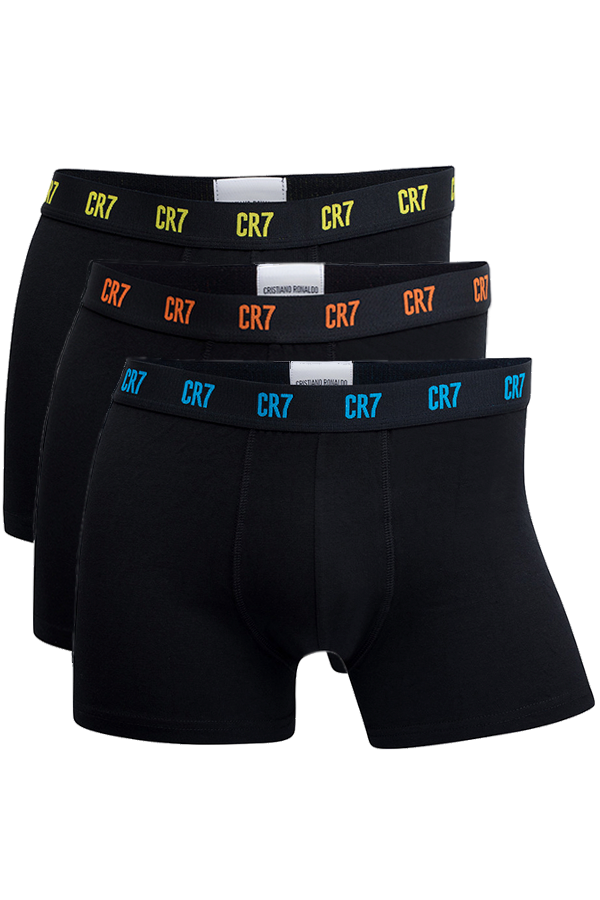 cr7 – Cr7 trunks 3-pack black color - xxl fra luxivo.dk