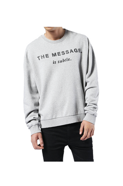 Diesel Oversized Sweatshirt Light Grey