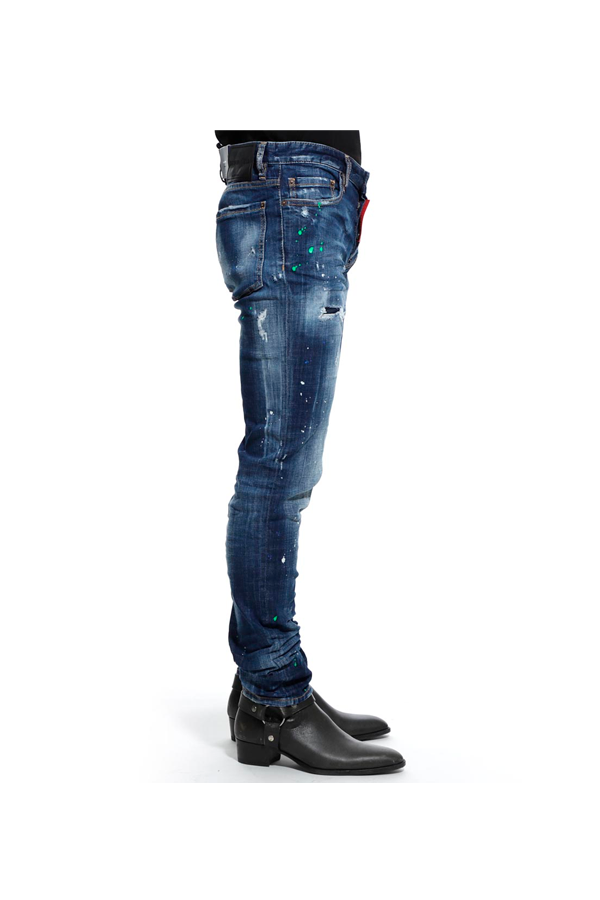 Dsquared2 Distressed Slim Jeans Blue