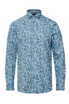 Matinique Sateen Paisley Shirt Dusty Green