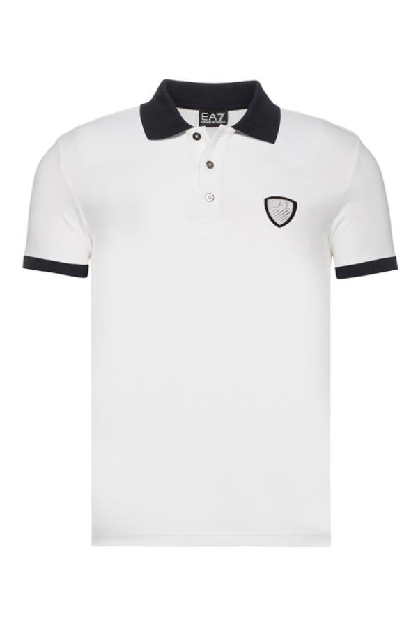 Image of   Armani EA7 Shield Polo Shirt White - M