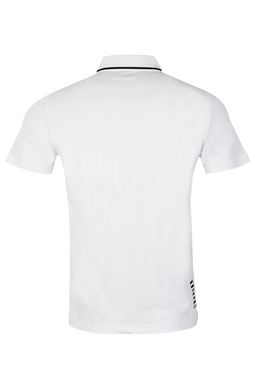 Armani EA7 Tipped Polo Shirt White