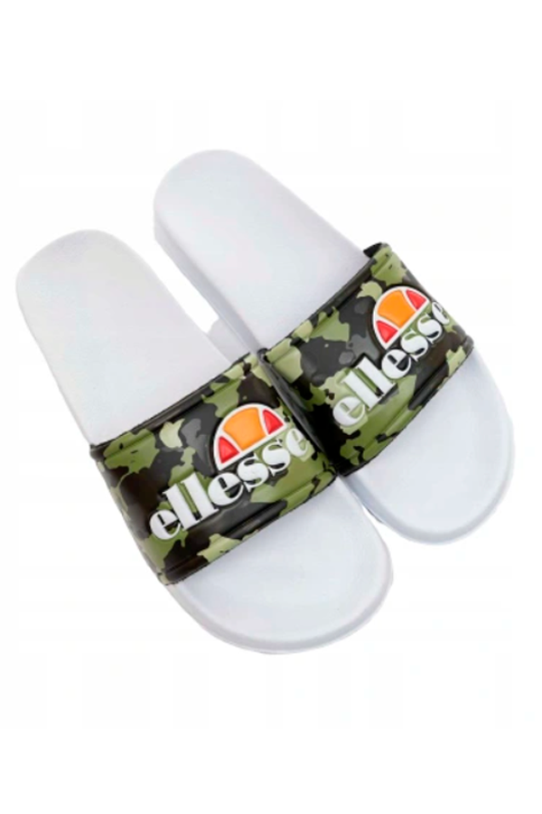 Ellesse Duke Logo Slides Green Camo