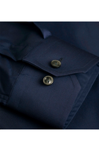 ETON Slim Fit Twill Shirt Navy