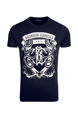 Roberto Cavalli Shield Tee Navy