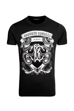 Roberto Cavalli Shield Tee Black