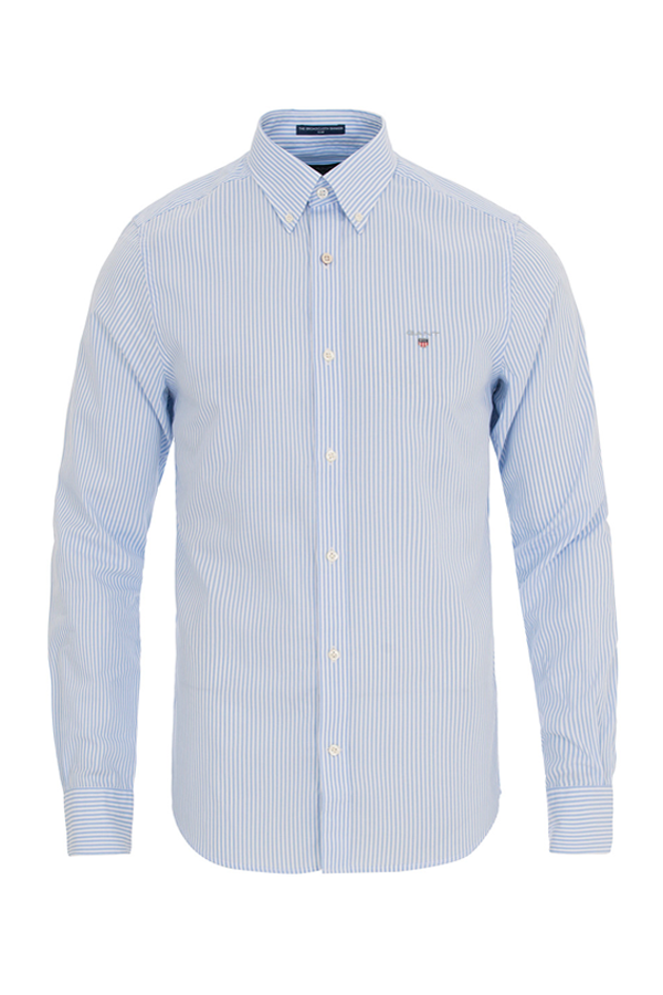 gant Gant oxford shirt stripe blue - xl på luxivo.dk