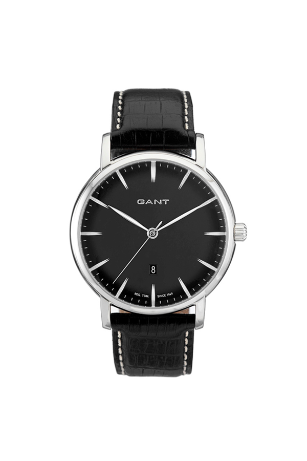 Gant franklin watch black leather fra gant på luxivo.dk
