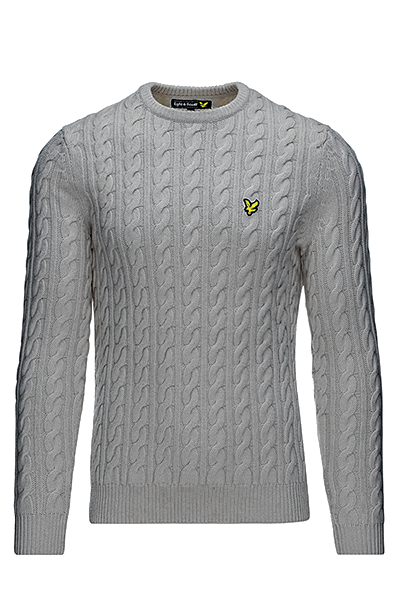 Image of   Lyle & Scott Cable-Knit Sweater Grey - L