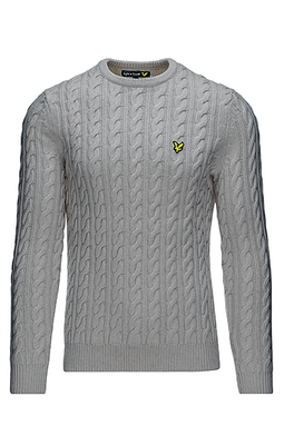 Lyle & Scott Cable-Knit Sweater Grey