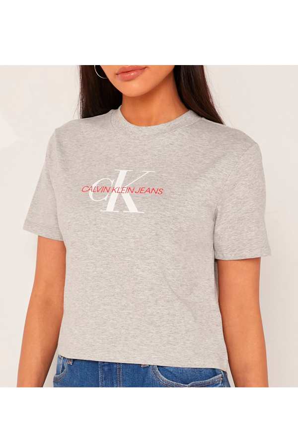 Calvin Klein Women True Icon Tee Grey