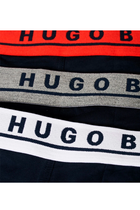 Hugo Boss Trunks 3-Pack Navy W. Color Waistband