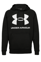 Under Armour Rival Big Logo Hoodie Black