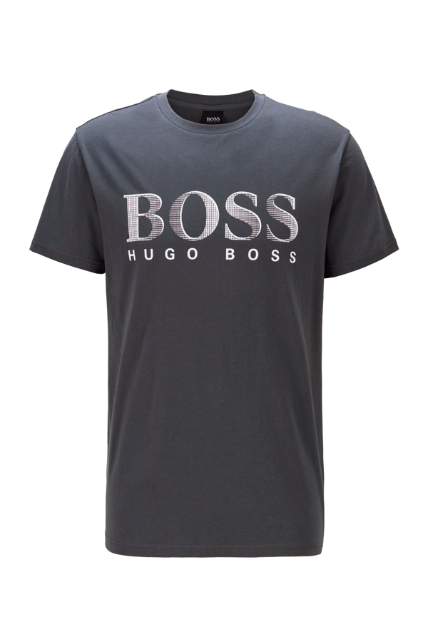 Hugo Boss RN Logo Tee Lead Grey