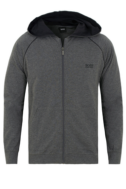 Hugo Boss Full Zip Hoodie Dark Melange