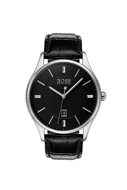 Hugo Boss Leather Watch 1513520 Black