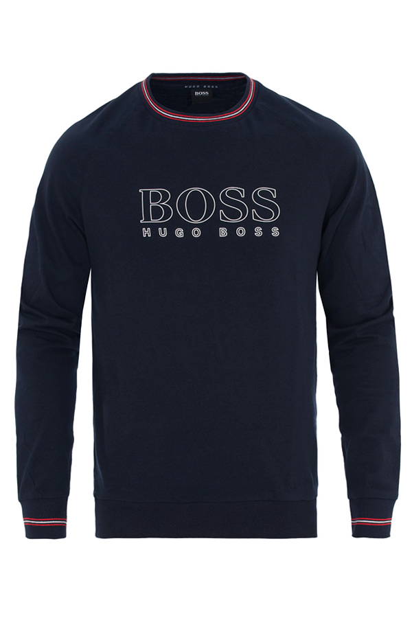Hugo boss authentic sweat dark blue - m fra hugo boss fra luxivo.dk