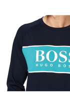 Hugo Boss Crew Logo Sweatshirt Navy