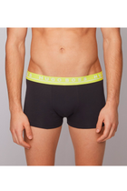 Hugo Boss Trunks 3-Pack Black W. Color Waistband