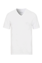 Hugo Boss V-Neck Logo Tee White
